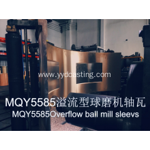 Overflow ball mill sleeves